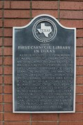 Image for Site of First Carnegie Library in Texas