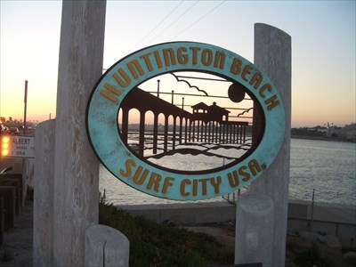 Surf City U S A Huntington Beach California Pch Welcome Signs On Waymarking