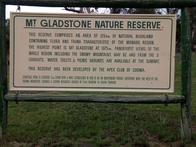 Sign for the Nature Reserve, at the turn-off. 1857, Sunday, 30 December, 2018