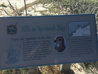 A sign for the Inn at Spanish Bay.
