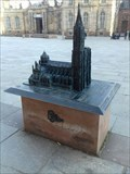 Image for Bronze 3D model of the cathedral of Notre-Dame de Strasbourg/Alsace/France