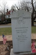 Image for Fire Memorial, Walpole Town Green - Walpole, MA