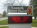 Image for Lambeth United Church sign - lambeth, Ontario