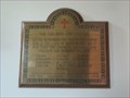 Image for Pishill  Parish Church combined plaque  - Oxon