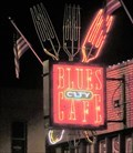Image for Blue's city Cafe - Neon - Memphis, Tennessee, USA.