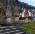 Image for Three Wooden Morels in Front of the Town Hall - Hellikon, AG, Switzerland