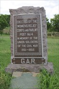 Image for G. A. R. Memorial -- Oakwood Cemetery, Fort Worth TX