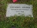 Image for Unknown Civil War Soldier - Franklin, TN