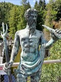 Image for Neptune - Planet, Roman God and Sculpture - Steinwasenpark - Oberried, Germany, BW