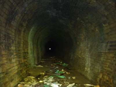 Inside the tunnel