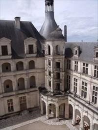 Une cour intérieure du Château de Chambord