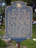 Image for Army Trail Road marker - Addison, IL