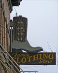 Image for Family Clothing Store's Neon Cowboy Boot - Centralia, WA