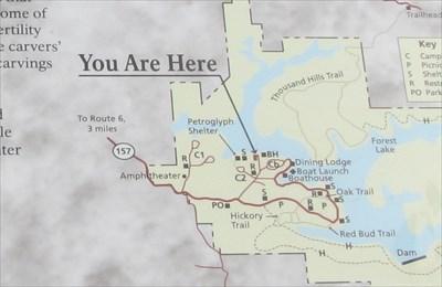 Kirksville Missouri Map.Thousand Hills Petroglyphs You Are Here Map Kirksville Missouri