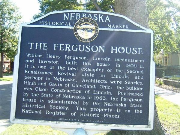 William H Ferguson House Lincoln Nebraska U S