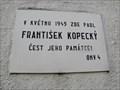 Image for Pametní deska František Kopecký - Praha 4