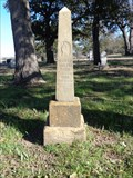 Image for EARLIEST Marked Grave in Olive Branch Cemetery - Wise County, TX