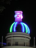 Image for Art Deco Neon Clock Tower.  Napier. New Zealand.