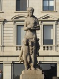 Image for Woman with Boy and Flute - Barcelona, Spain
