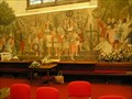Image for Rushbearing Mural inside St Mary's Church Ambleside Cumbria