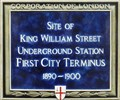 Image for FIRST - City Terminus of London Underground - Monument Street, London, UK