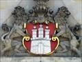 Image for Großes Hamburg-Wappen am Rathaus-Turm - Hamburg, Germany