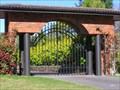 Image for Wrought Iron and Brick Entrance. Turangi. New Zealand.