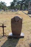 Image for FIRST Travis County Deputy Sheriff Killed in the Line of Duty -- Oakwood Cemetery, Austin TX