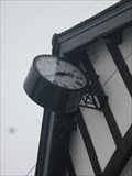 Image for Clock, Hall, High Street, Glyn Ceiriog, Llangollen, Denbighshire, Wales, UK