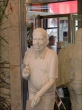 Image for Havel's statue in Slavia cafe, Prague, Czech Republic