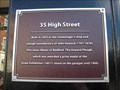 Image for 35 High Street Plaque - Bedford, Bedfordshire, UK