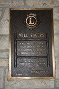 Image for Lions Club Plaque -- Will Rogers Memorial, Claremore OK