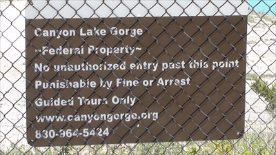 Warning sign at the Spillway