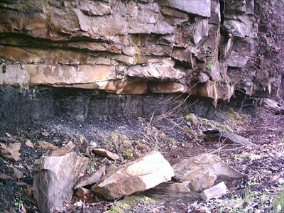 The rule of thumb is that it takes 25 feet of peat to compress into 2 feet of coal. This particular seam of coal is only 28 inches wide and such was the demand for coal in the Industrial Age that men dug this seam. Climb under your desk and imagine spending all day in dark, damp, wretched conditions digging with a pick.