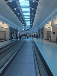 Pedestrian Walkway at JAX, Jacksonville International Airport, Florida