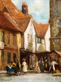 """Image for """"French Row """" by Henry Mitton Wilson – French Row, St Albans, Herts, UK"""