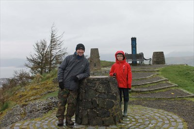 Colin and Brandon standing near to the pillar