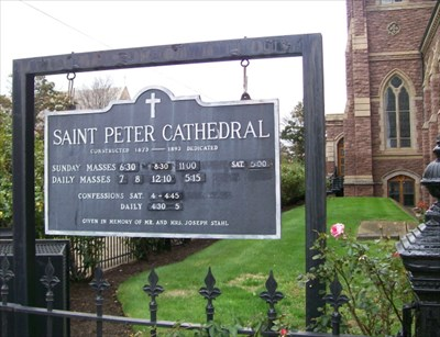 St. Peter Cathedral Sign