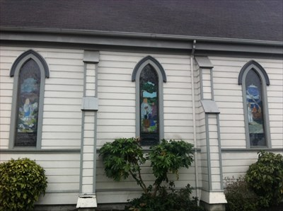 Stained Glass Window Trio, San Lorenzo, CA