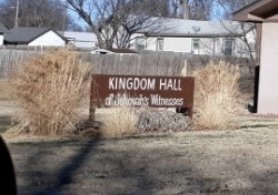 The Kingdom Hall sign