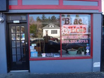 Black hole tattoo and piercing portland or tattoo for Tattoo shops in portland oregon
