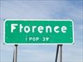 Image for Florence, Minnesota - Population 39