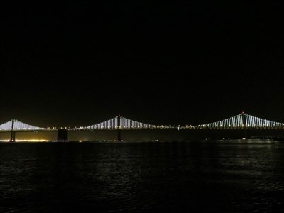 Bay Lights Fully Lit, from Pier 7, San Francisco, CA