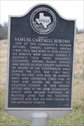 Image for El Camino Real --Samuel Cartmill Hiroms homesite -- SH 21 E of Austonio TX