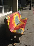 Image for Tie-dye bench - San Jose, CA