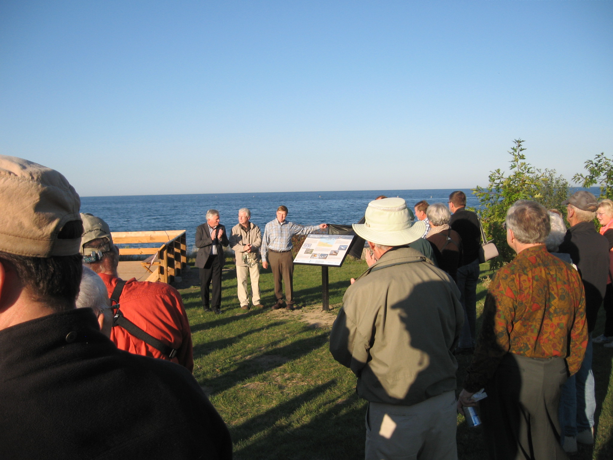 The Grand Opening of the viewing platform and unveiling of the signs. September 24, 2014. Photo by Bon Echo