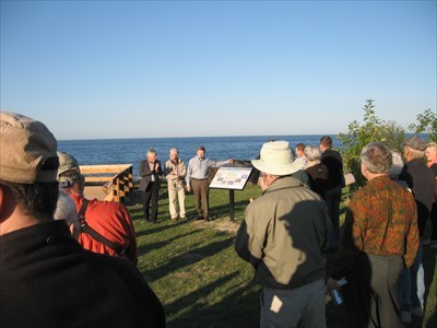 "The ""Grand Opening"" of the viewing platform and unveiling of the signs. September 24, 2014. Photo by Bon Echo"