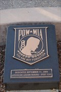 Image for POW/MIA Plaque - Santa Maria California