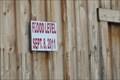 Image for Flood level signs - Bainbridge, NY