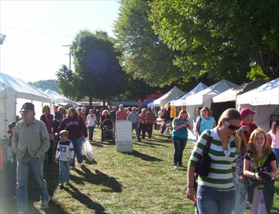 All Kinds of Food and Craft and Specialty Vendors dot the town square